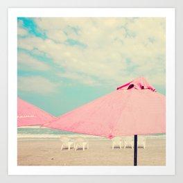 Pale Pink Umbrellas Art Print