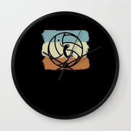 Vintage Retro Lineman Trainer Volleyball Wall Clock