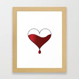 My heart knocking for you. Framed Art Print
