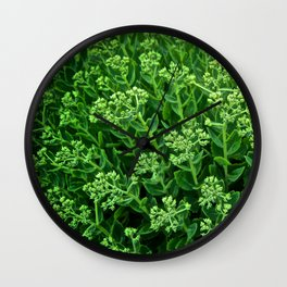 Beautiful Green Pattern - The Peace Collection Wall Clock
