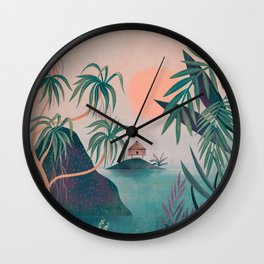 Paradise Cottage Wall Clock