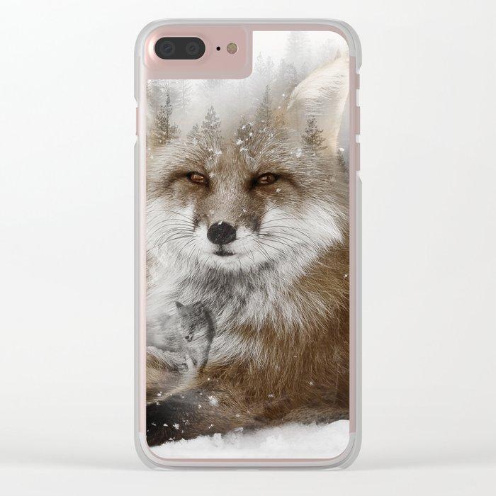 Fox Stare Clear iPhone Case