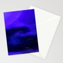 Deep Blue Aurora Stationery Cards