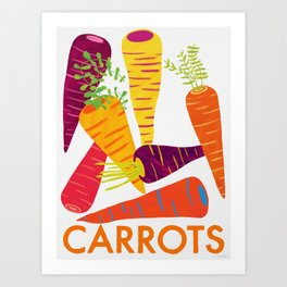 Eat Your Veggies - Carrots Art Print
