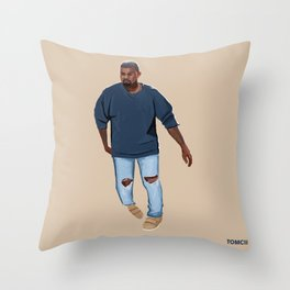 Blue Outfit Throw Pillow