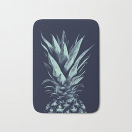 Navy Blue Pineapple Dream #1 #tropical #fruit #decor #art #society6 Bath Mat