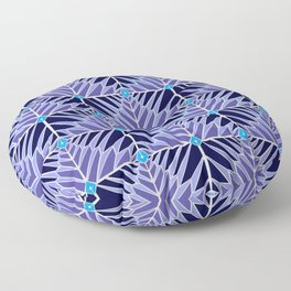 Crystal Feathers Lavender Floor Pillow