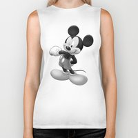 mickey Biker Tanks featuring Mickey by loveme
