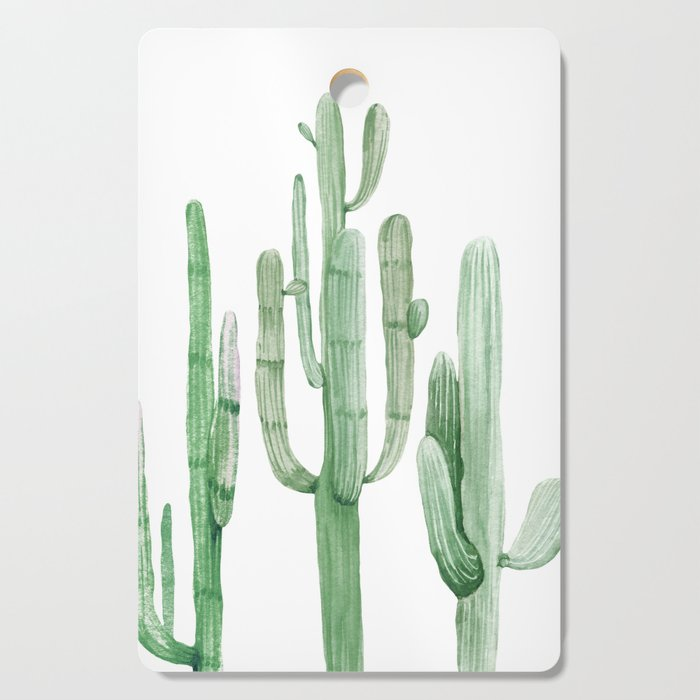 Three Amigos White + Green by Nature Magick Cutting Board