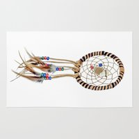 dream catcher Area & Throw Rugs featuring Dream catcher by North America Symbols and Flags