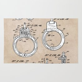 patent art Foley Secret Release Handcuffs 1966 Rug