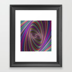 Psychedelic colors Framed Art Print