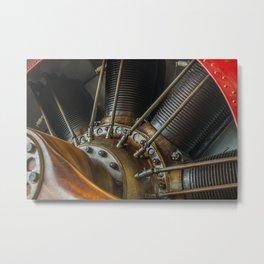 Biplane Engine Metal Print