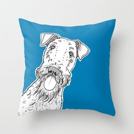 Peeking Dog Throw Pillow