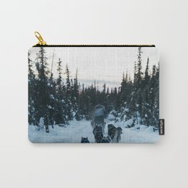 SNOW - HUSKIES - SLED - FOREST Carry-All Pouch
