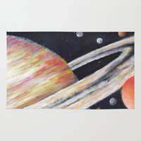 saturn Area & Throw Rugs featuring Saturn by Quinn Shipton