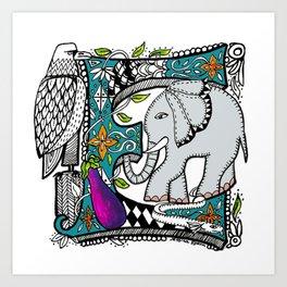 Letter E Art Print, Tee Shirt, Mug and More Art Print