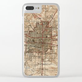 Vintage Map of Tallahassee Florida (1940) Clear iPhone Case