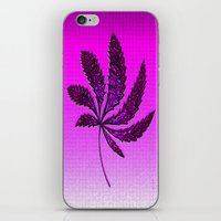 hot pink iPhone & iPod Skins featuring HOT Pink by Cherie DeBevoise