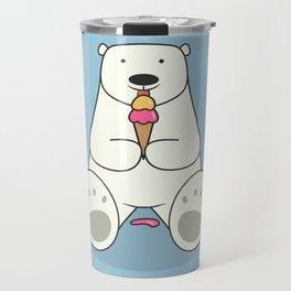 Ice Cream Lover Bear Travel Mug