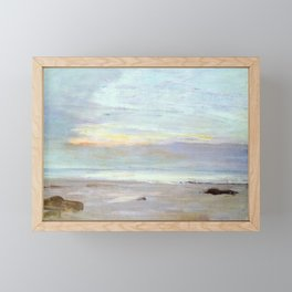 Crepuscule In Opal Trouville By James Mcneill Whistler | Reproduction Framed Mini Art Print
