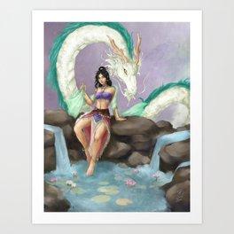 Guardian of the Lotus Art Print