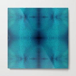 Blue cobra skin for decor, t-shirt, pillows, tapestry etc Metal Print