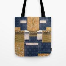 Blue Gold Tote Bag