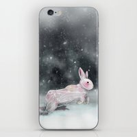 rabbit iPhone & iPod Skins featuring White Rabbit by Ben Geiger