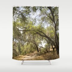 Follow The Tree Lined Trail Shower Curtain