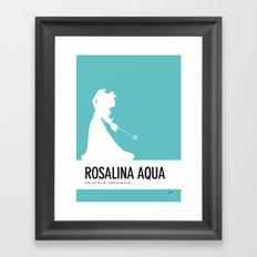 No39 My Minimal Color Code poster Rosalina Framed Art Print