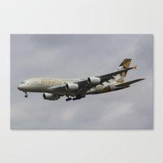 Etihad Airbus A380 Canvas Print