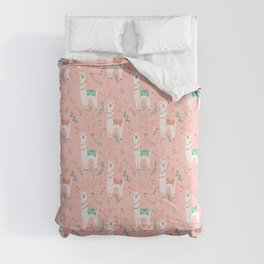 Lovely Llama on Pink Comforters