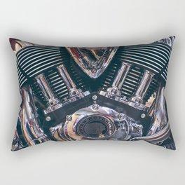 Indian motorcycle engine Rectangular Pillow