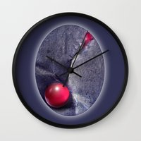moulin rouge Wall Clocks featuring ROUGE by INA FineArt