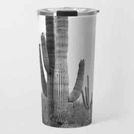 Cactus, Cacti, Black and White Travel Mug