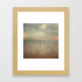 Three surfers abstract Framed Art Print