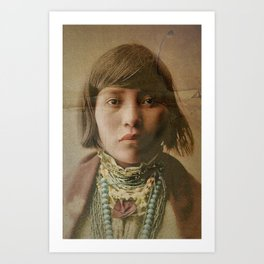 Young Native American Girl 1904 Art Print