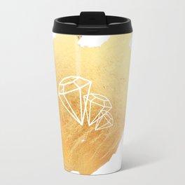 Faceted Gold Travel Mug