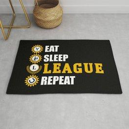 league of legends eat sleep leageu repeat Rug