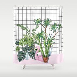 room plants Shower Curtain