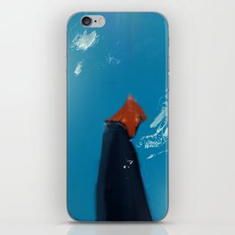 Woman in blue iPhone Skin
