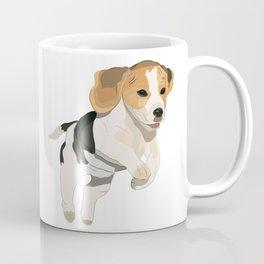 Beagle Art, beagle puppy, digital painting Coffee Mug