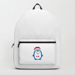 Bah Humbug Angry Penguin Santa Hat Xmas Long Sleeve Pun Cool Humor Gift Design Backpack