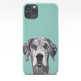 Great Dane pet portrait art print and dog gifts iPhone Case