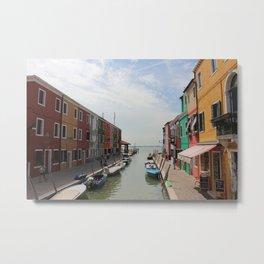 Burano in Venezia Metal Print