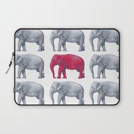 Elephants Red Laptop Sleeve