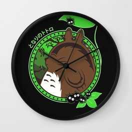 Forest Spirit Neighbor Wall Clock