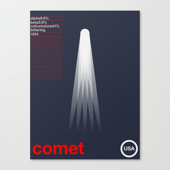 comet single hop Canvas Print