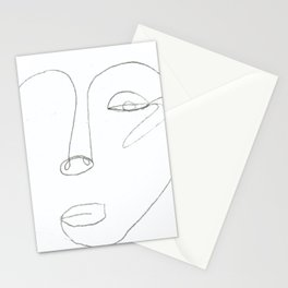 The Woman - Contour Drawing Stationery Cards